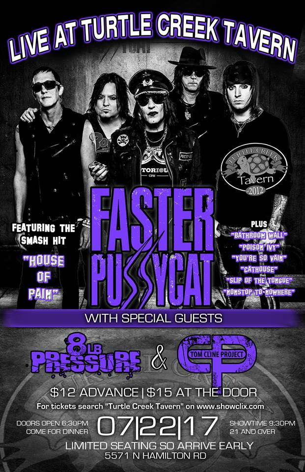 Faster Pussycat w/ 8LB Pressure and Acoustic Mayhem